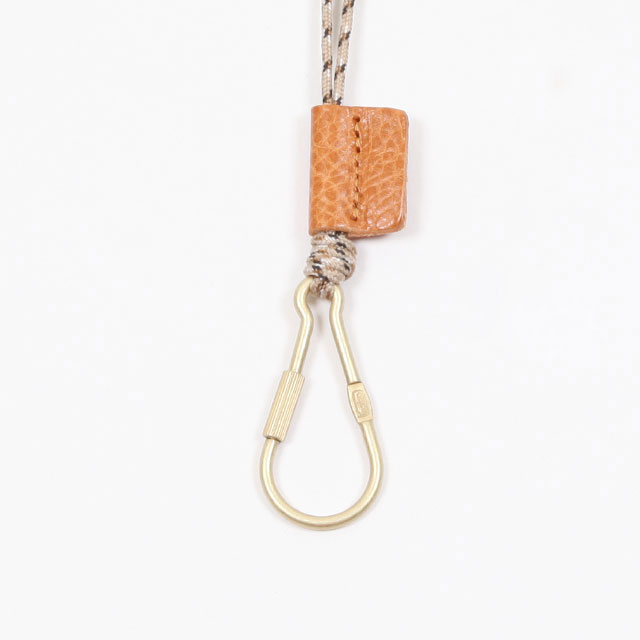 hobo BRASS CARABINER KEY RING with NYLON CORD [HB-A3106]