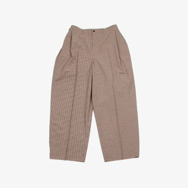 CAMIEL FORTGENS Oversized Flat and Folded Suit Pants Brown Check [09.05.17]