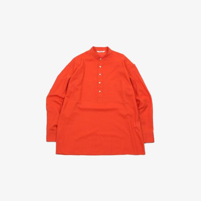 AURALEE SHUTTLE GEORGETTE CLOTH P/O SHIRTS [A20SS01MG]