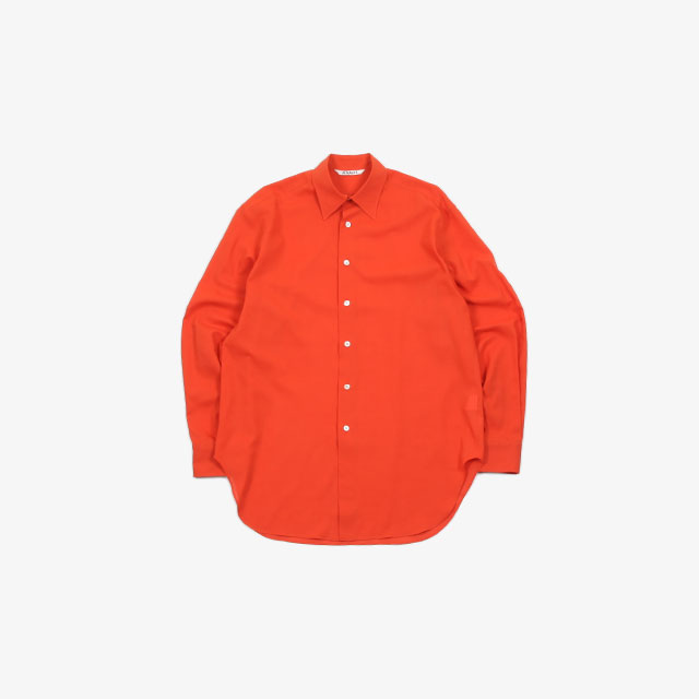 AURALEE SHUTTLE GEORGETTE CLOTH SHIRTS [A20SS02MG]