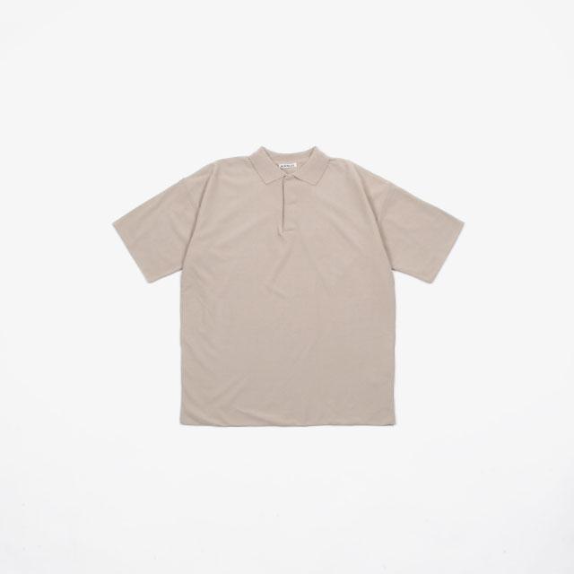 AURALEE HARD TWIST AMUZEN DOUBLE CLOTH POLO [A20SP02KN]