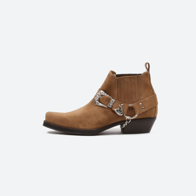 JOHNNY BULLS WESTERN BOOTS SUEDE CAMEL[4719]
