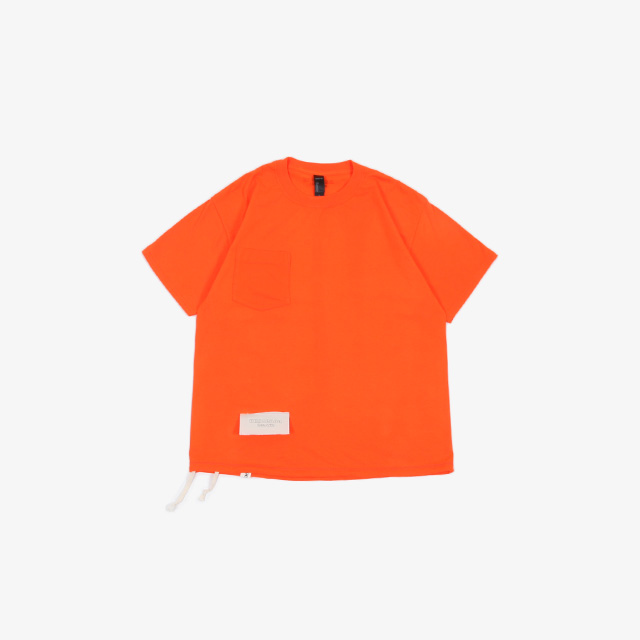 S/S SWITCH POCKET TEE W/ATHLETIC SHOE LACE [309]