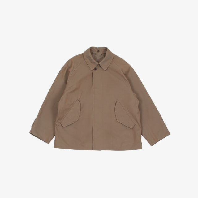blurhms Chambray Gabardine Detachable Collar Jacket  [BHS20F004]