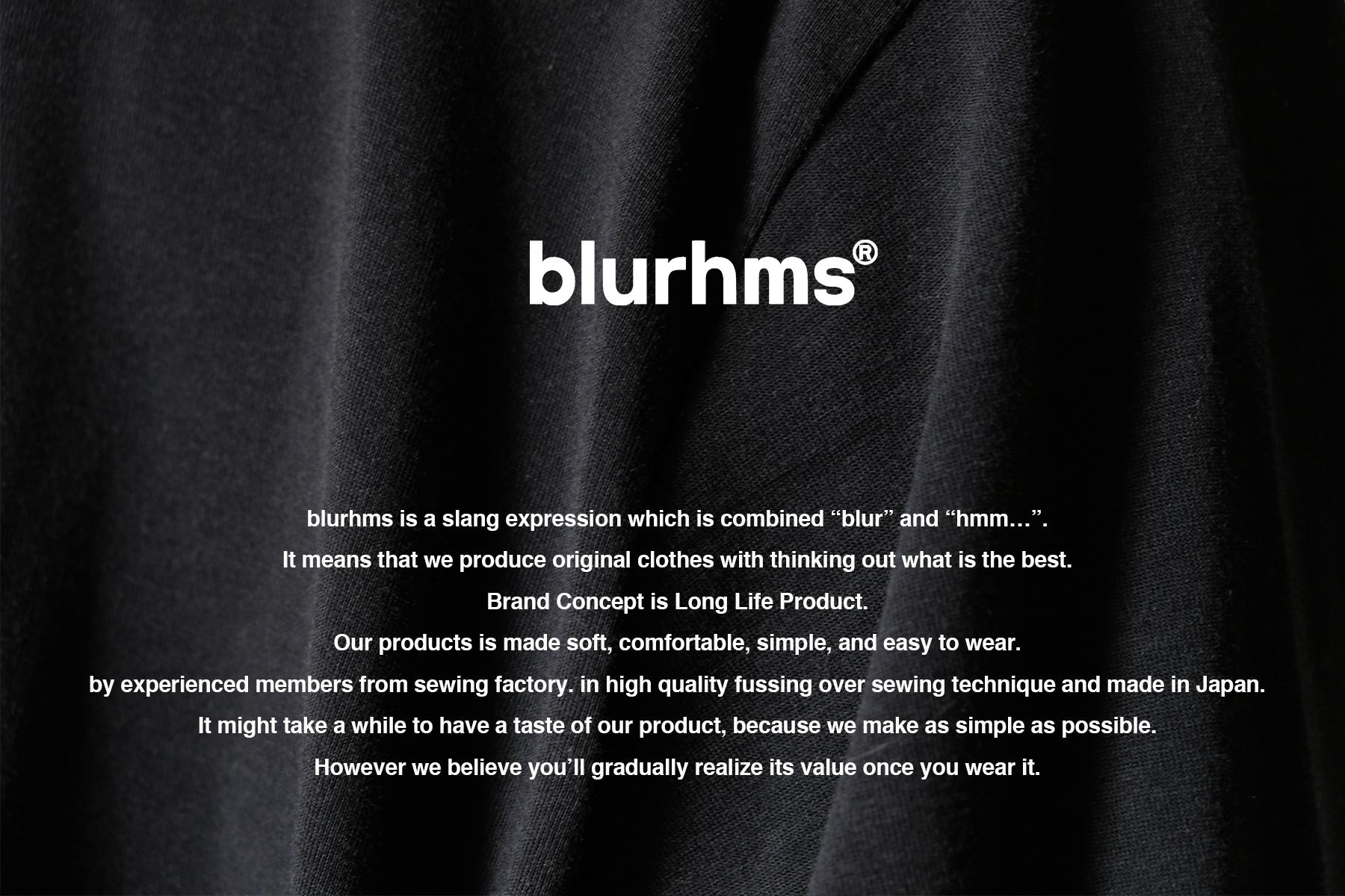 blurhms|ブラームス 2020 AW 1st drop