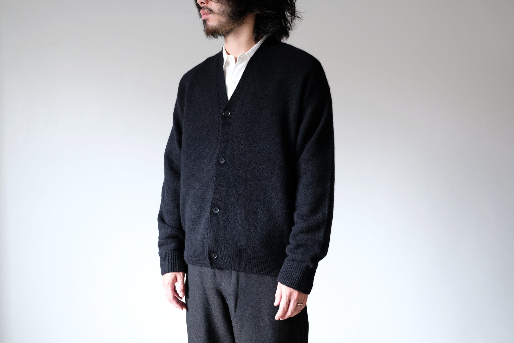 AURALEE|オーラリー Rib & Cashmere Knit