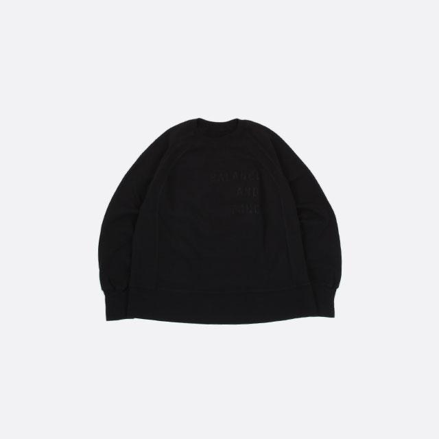 Engineered Garments Raglan Crew – Fleece / Balance Black [HJ147]