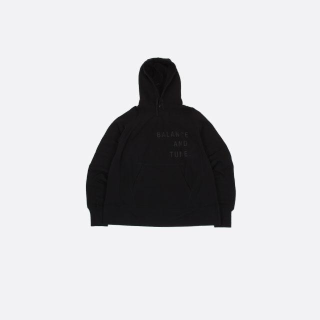 Engineered Garments Raglan Hoody – Fleece / Balance Black [HJ155]
