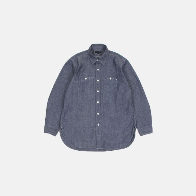 Engineered Garments Work Shirt – Cone Chambray Indigo [HJ190]