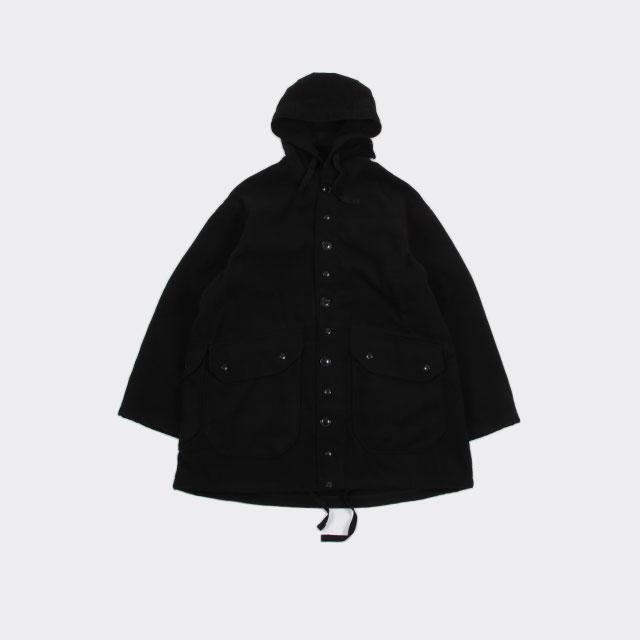 Engineered Garments Madison Parka – Fake Melton Black [HJ313]