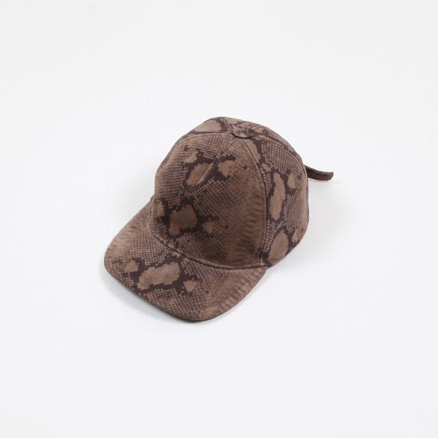 YUKETEN ITALIAN SUEDE CAP Snake Cocco