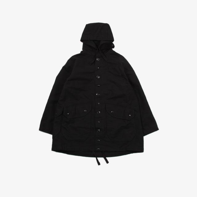 Engineered Garments Madison Parka – Double Cloth Black [HJ310]