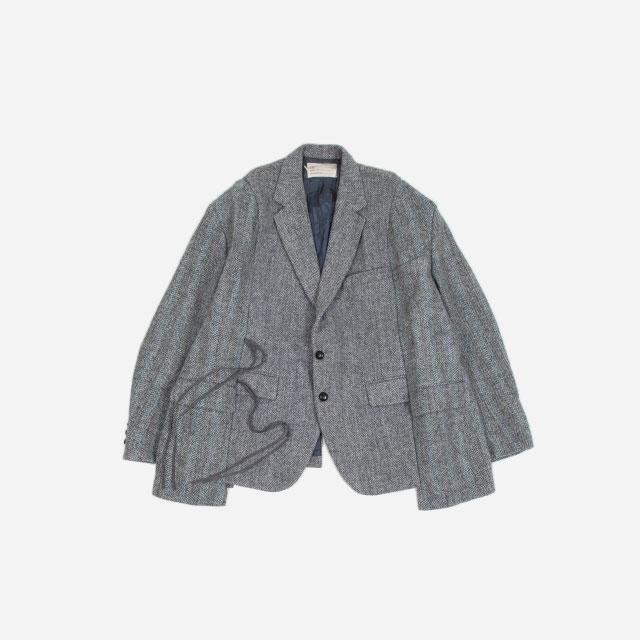 77circa circa make wide tweed jacket Grey Group  [cc-20aw-39]