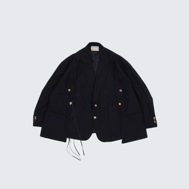 77circa  circa make wide wool jacket Navy  [cc-20aw-39]