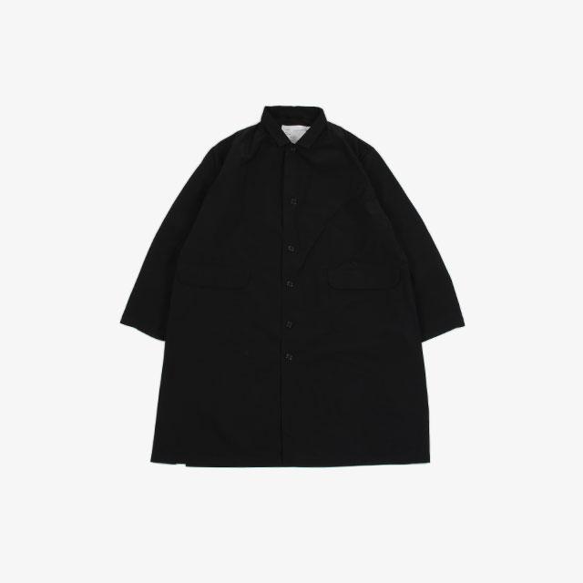 CAMIEL FORTGENTS Long Casual Coat Technical Black [10.09.04]