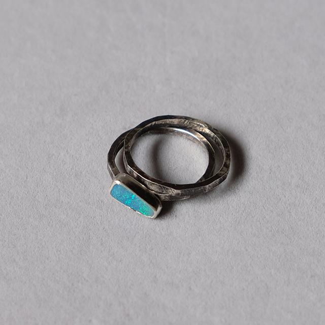Mountain Metallurgy  Natural Stone Ring – Australian Opal