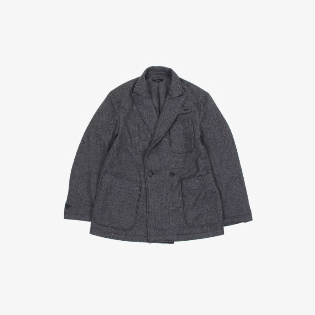 Engineered Garments Newport Jacket – Glen Plaid St. Grey [HJ341]