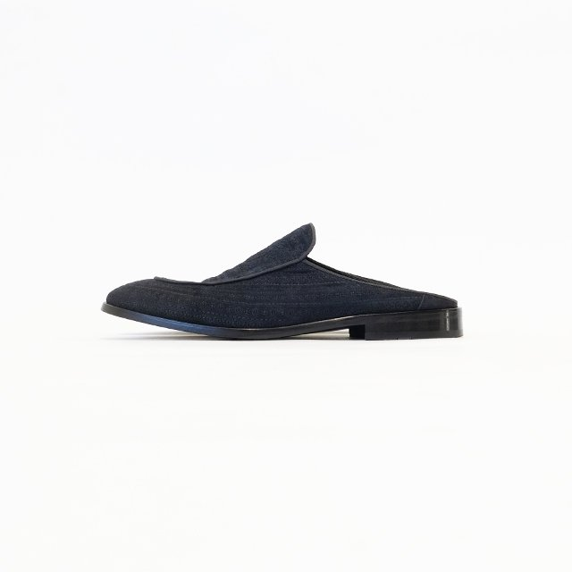 ANGELO RUFFO 【予約販売】SUEDE EMB. MULE Blue(Navy Blue) [500-32796-G]