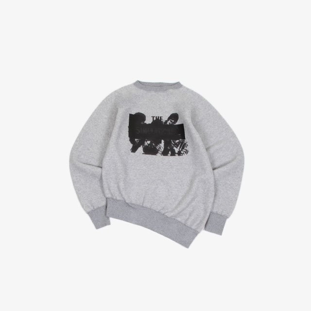 TODAY edition SIMULATIONISM 1 CREW NECK SWEAT GRAY [20AW-05]