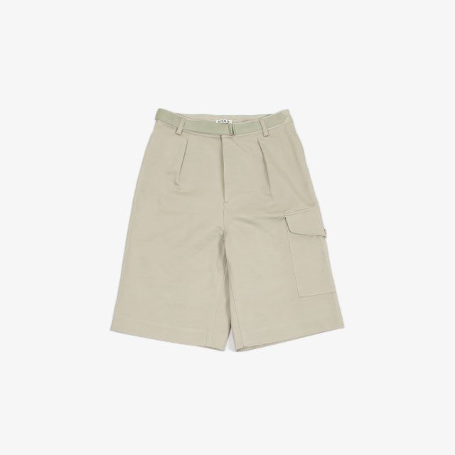 AURALEE WASHED FINX LIGHT BIG CHINO SHORTS [A21SP02FC]
