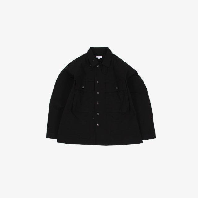 Engineered Garments  M43/2 Shirt Jacket – Cotton Ripstop Black [IK137]