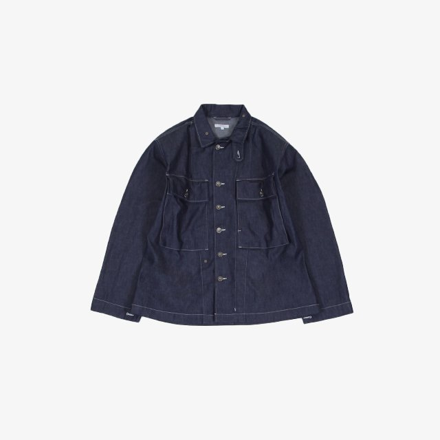 Engineered Garments  M43/2 Shirt Jacket – 8oz Cone Denim Indigo [IK138]