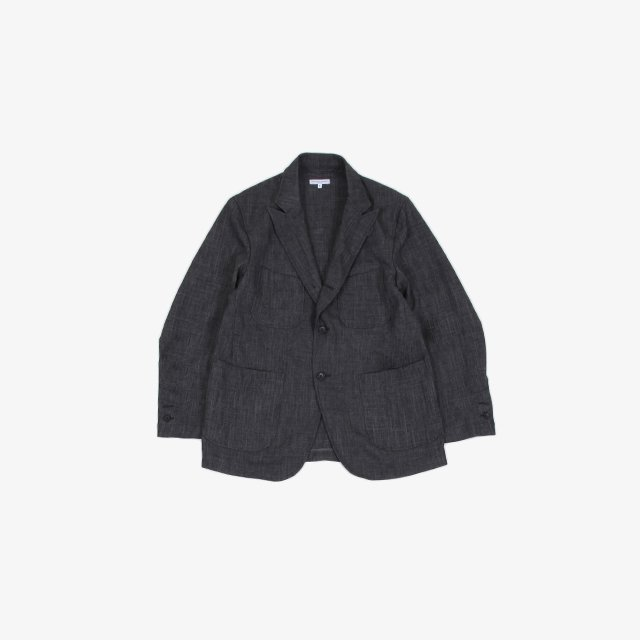 Engineered Garments  NB Jacket – Polyester Sharkskin Charcoal [IK092]