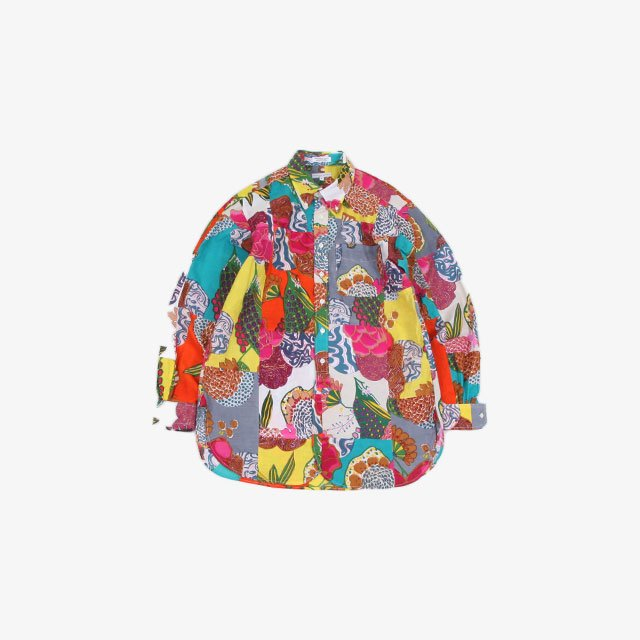 Engineered Garments  19 Century BD Shirt – Cotton Floral Patchwork Multi Color [IK011]