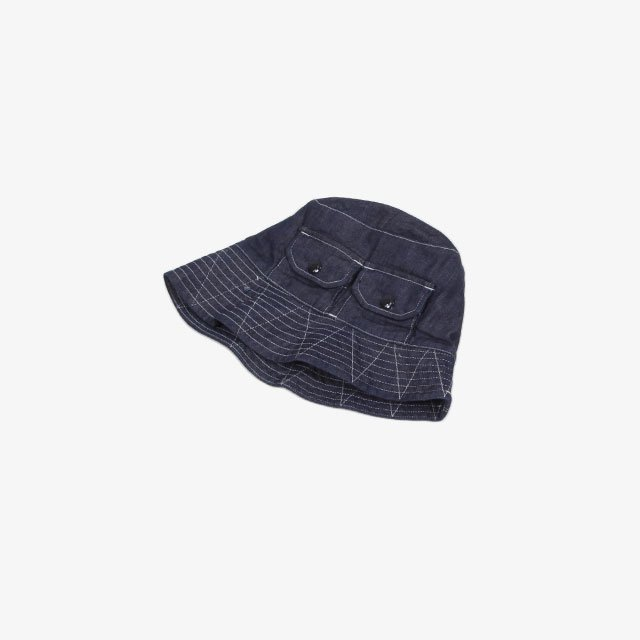 Engineered Garments Explorer Hat – 8oz Cone Denim Indigo [IK287]