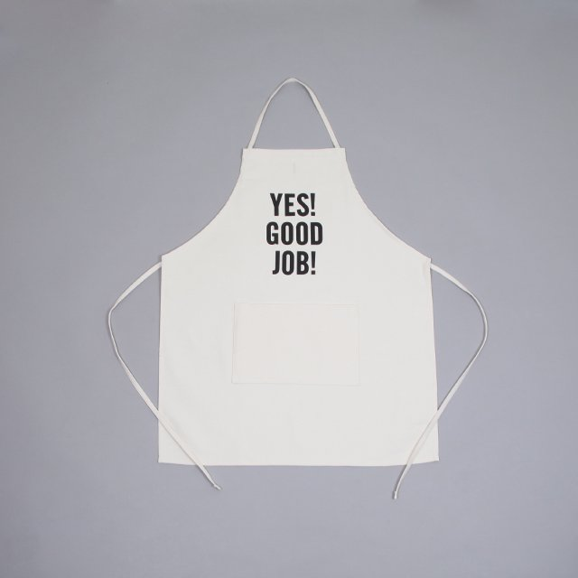 DRESSSEN ADULT APRON – YES GOOD JOB UNBLEACHED [#21]