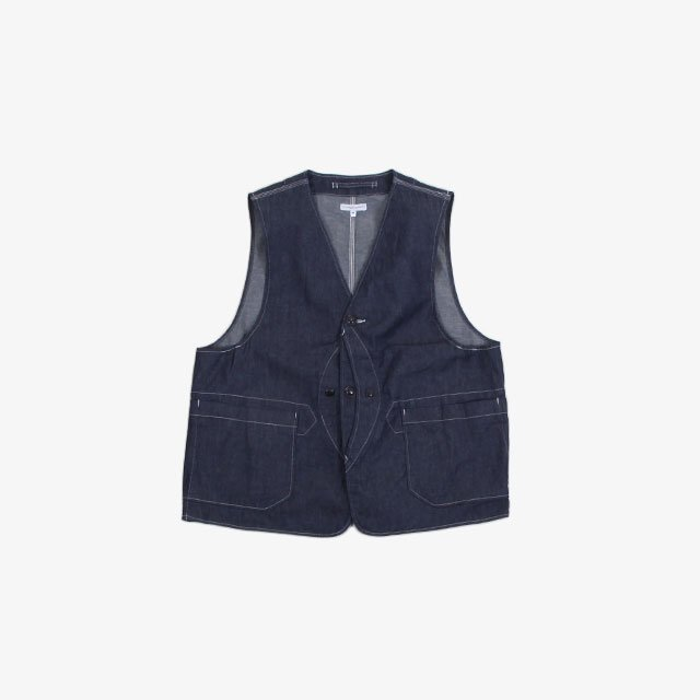 Engineered Garments Upland Vest – 8oz Cone Denim Indigo [GH195]