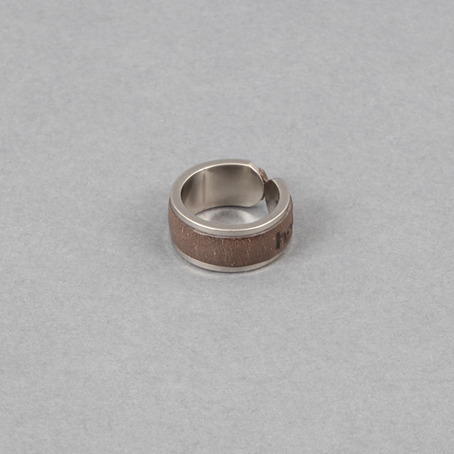 hobo BRASS RING with OILED COW LEATHER  [HB-A3311]