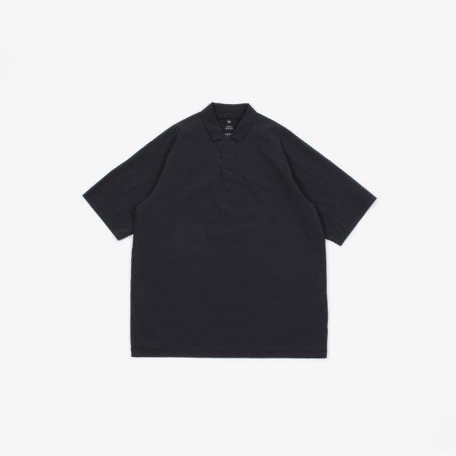 TEATORA CARTRIDGE POLO SHIRT – packable horizon BLACK [tt-POLO-PH]