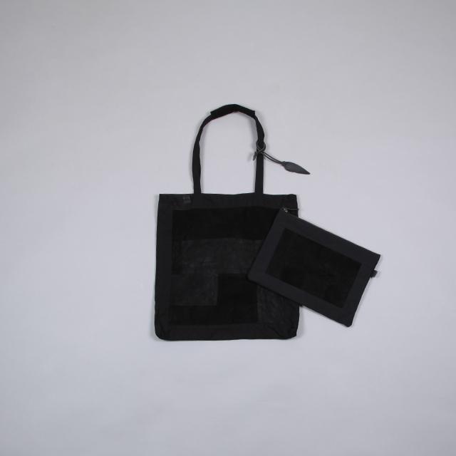 LEATHER & SILVER MOTO Patchwork Bag – Pouch & Charm Black [BAG81]