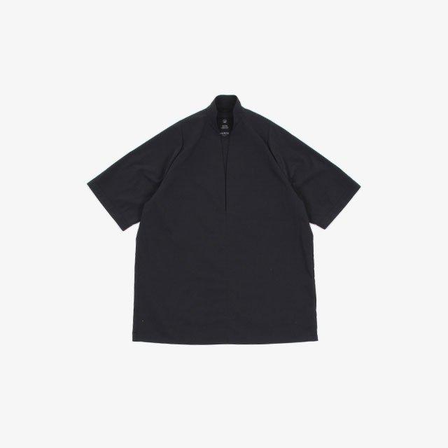 TEATORA ROOMKEY SHIRT – packable horizon BLACK [tt-SHT-002-DR]