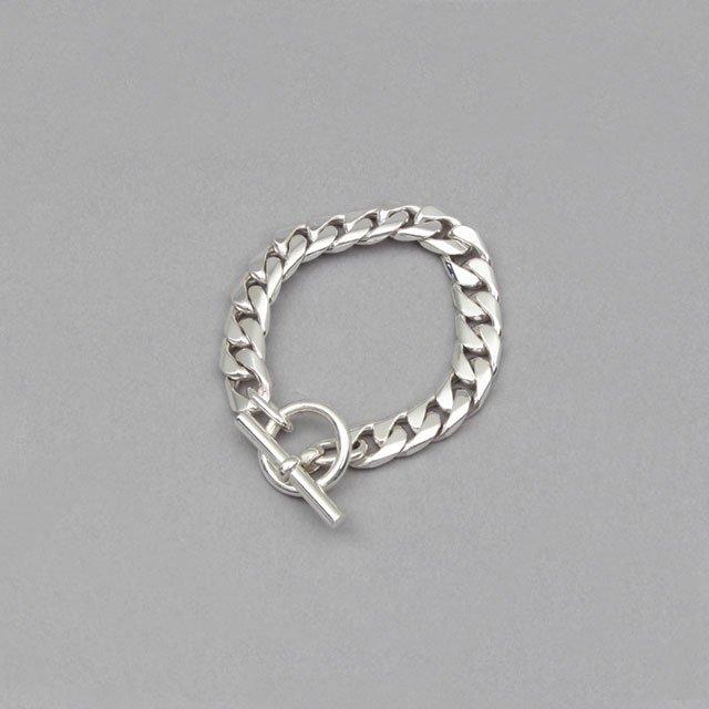 LAVER 11mm Curb Chain T Bar Bracelet [no.18]