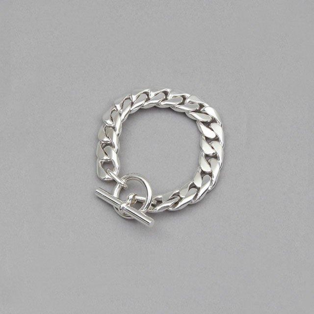 LAVER 13mm Curb Chain T Bar Bracelet [no.4]