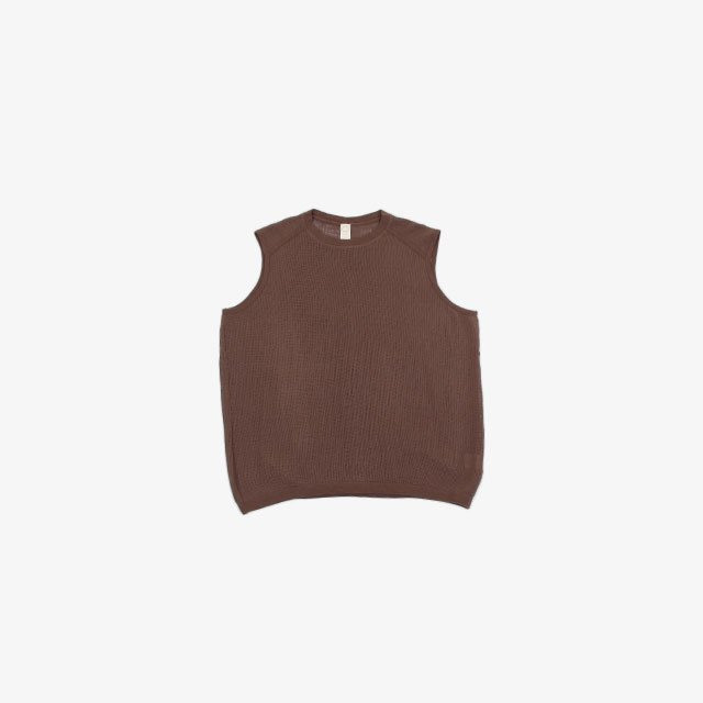 O project WIDE FIT SLEEVELESS TEE – MESH [11TS6]