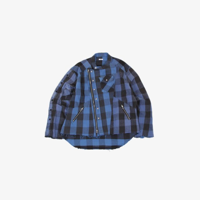 OLD PARK OVERSIZED RIDERS SHIRT H-FLANNEL [op-413]