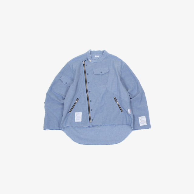 OLD PARK OVERSIZED RIDERS SHIRT CHAMBRAY [OP-413]