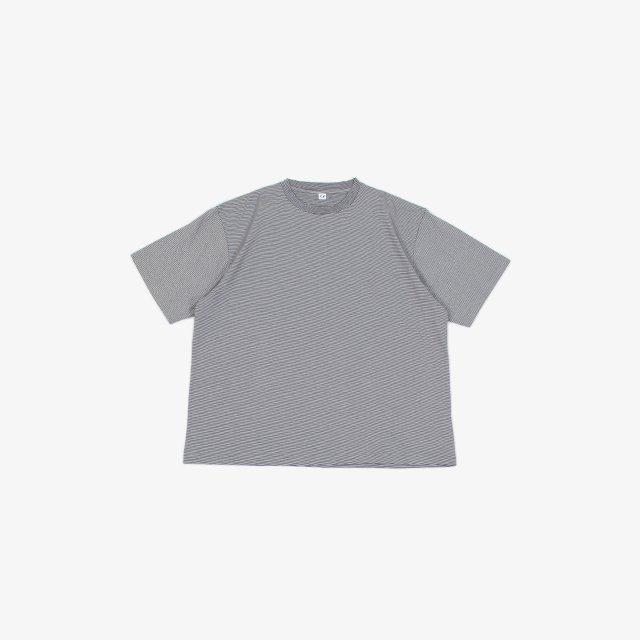 ETS.MATERIAUX  Ets.Micro border T-shirt NAVY MULTI [21071300260910]