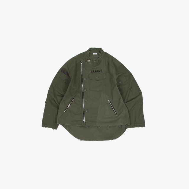 OLD PARK OVERSIZED RIDERS SHIRT MILITARY size:FREE [OP-413]