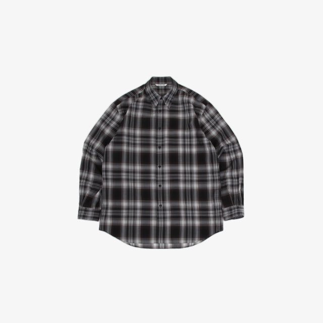 AURALEE WOOL RECYCLED POLYESTER CLOTH SHIRTS [A21AS01EM]