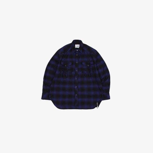 TheSoloist. Side Back Zip – Not Western Shirt? blue [ss.0013]