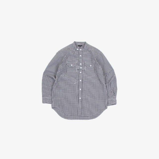 Engineered Garments Banded Collar Shirt – Cotton Gingham Check [JL030]