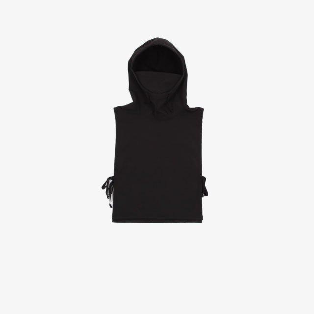 Engineered Garments Hooded Interliner – Polyester Fleece Black [JL050]