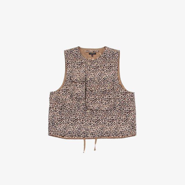 Engineered Garments Cover Vest – CP Leopard Jacquard Beige [JL094]