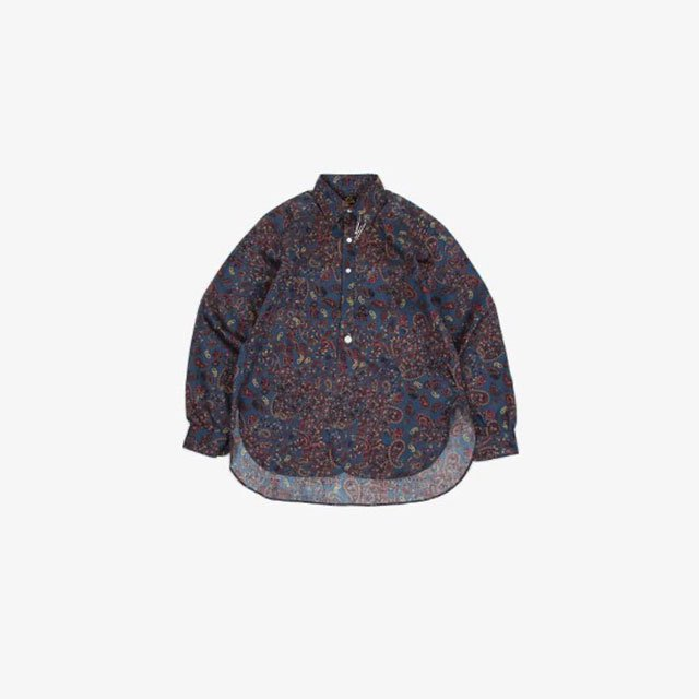 Needles Pinhole EDW Shirt – Cotton Sateen/Paisley Pt. Blue [JO195]