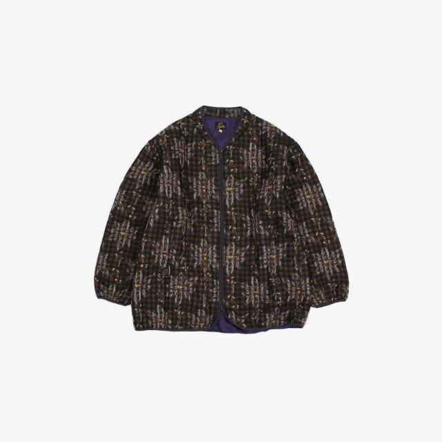 Needles Piping Quilt Jacket – W/Cu/Ac Flower/Plaid Jq. [JO128]