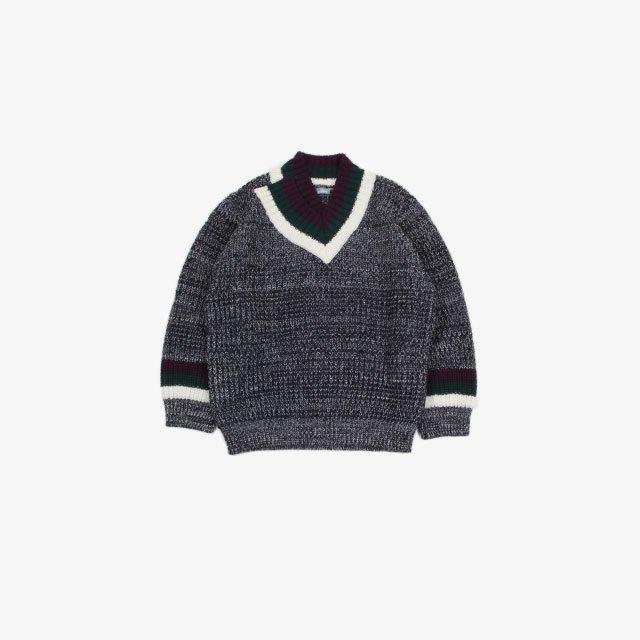 kolor BEACON Mixed Knit V neck [21WBM-N01331]